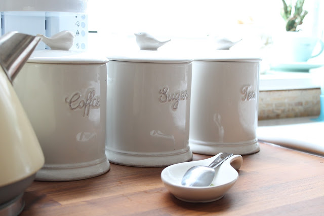 cream next bird kitchen storage jars
