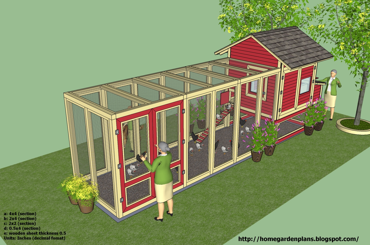 Home garden plans l102 chicken coop plans construction for Plans chicken coop