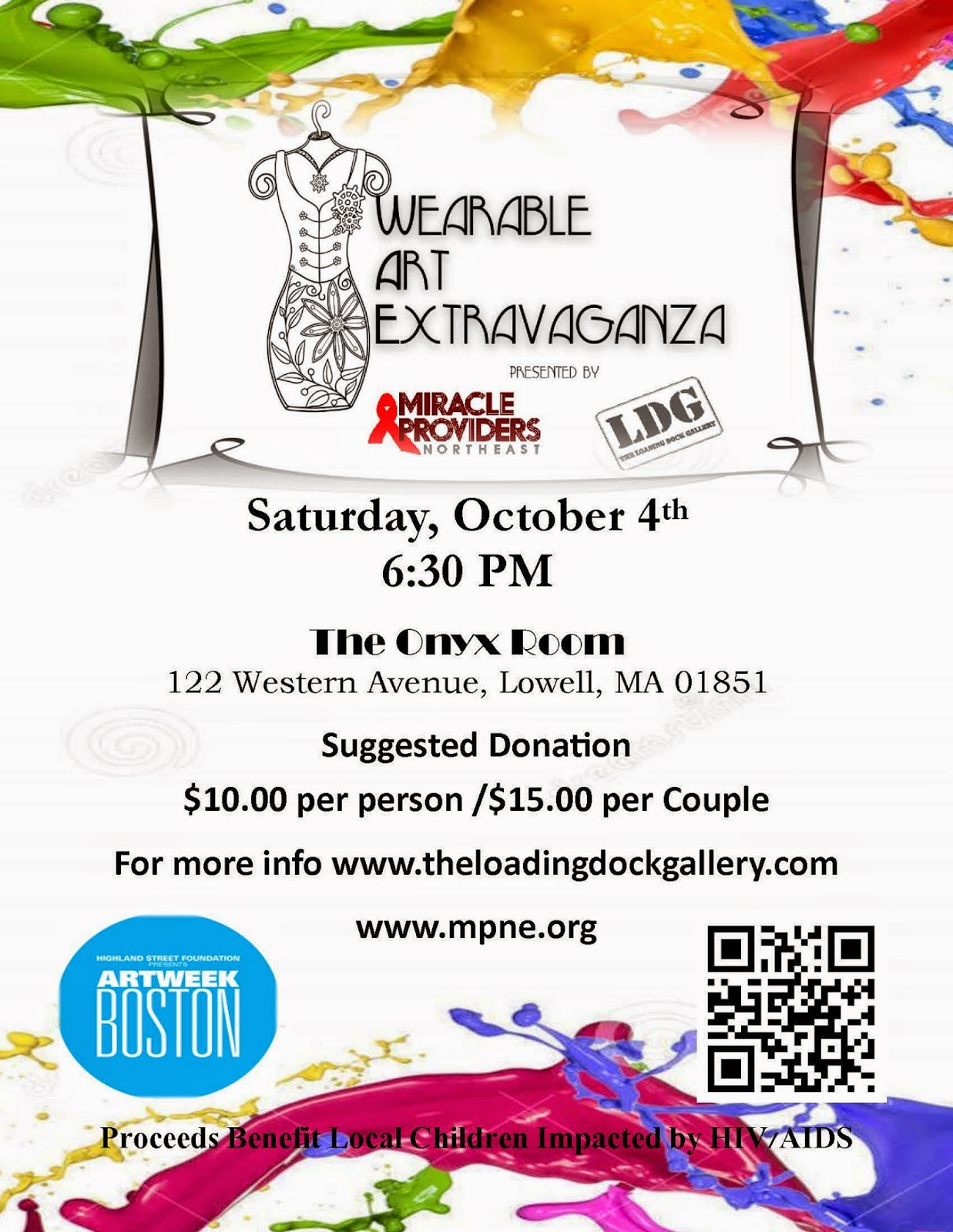 Wearable Art Extravaganza from the Loading Dock Gallery & Miracle Providers NE