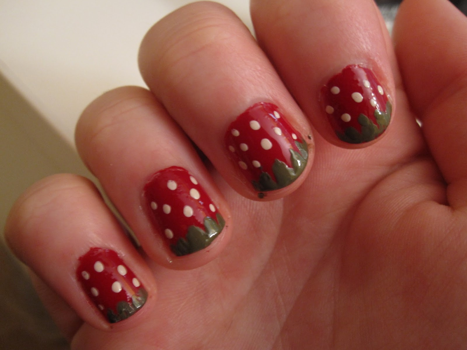 Melissas Makeup Musings Nail Art Tutorial Strawberry Design