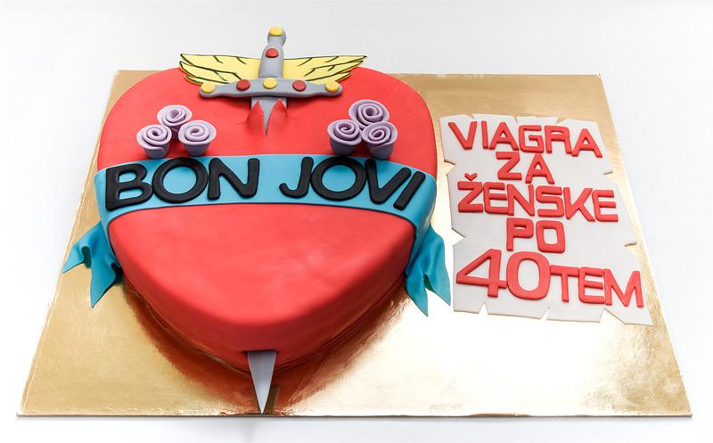 Bon Jovi fondant cake front