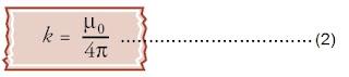konstanta kuat medan magnet