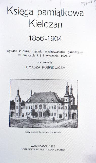 Księga Pamiątkowa Kielczan 1856-1904, pod redakcją Tomasza Ruśkiewicza, Kielce 1925.  [w: Świętokrzyska Biblioteka Cyfrowa]