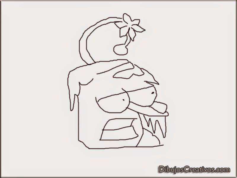 dibujos para pintar GINSENG PLANTA VS ZOMBIES