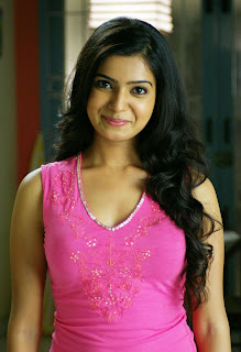 Samantha in a Tight Pink Sleeveless Tank Top Spicy Pictures