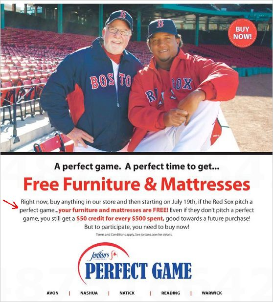 Masshole Sports Jordan S Furniture Will Only Give You Free