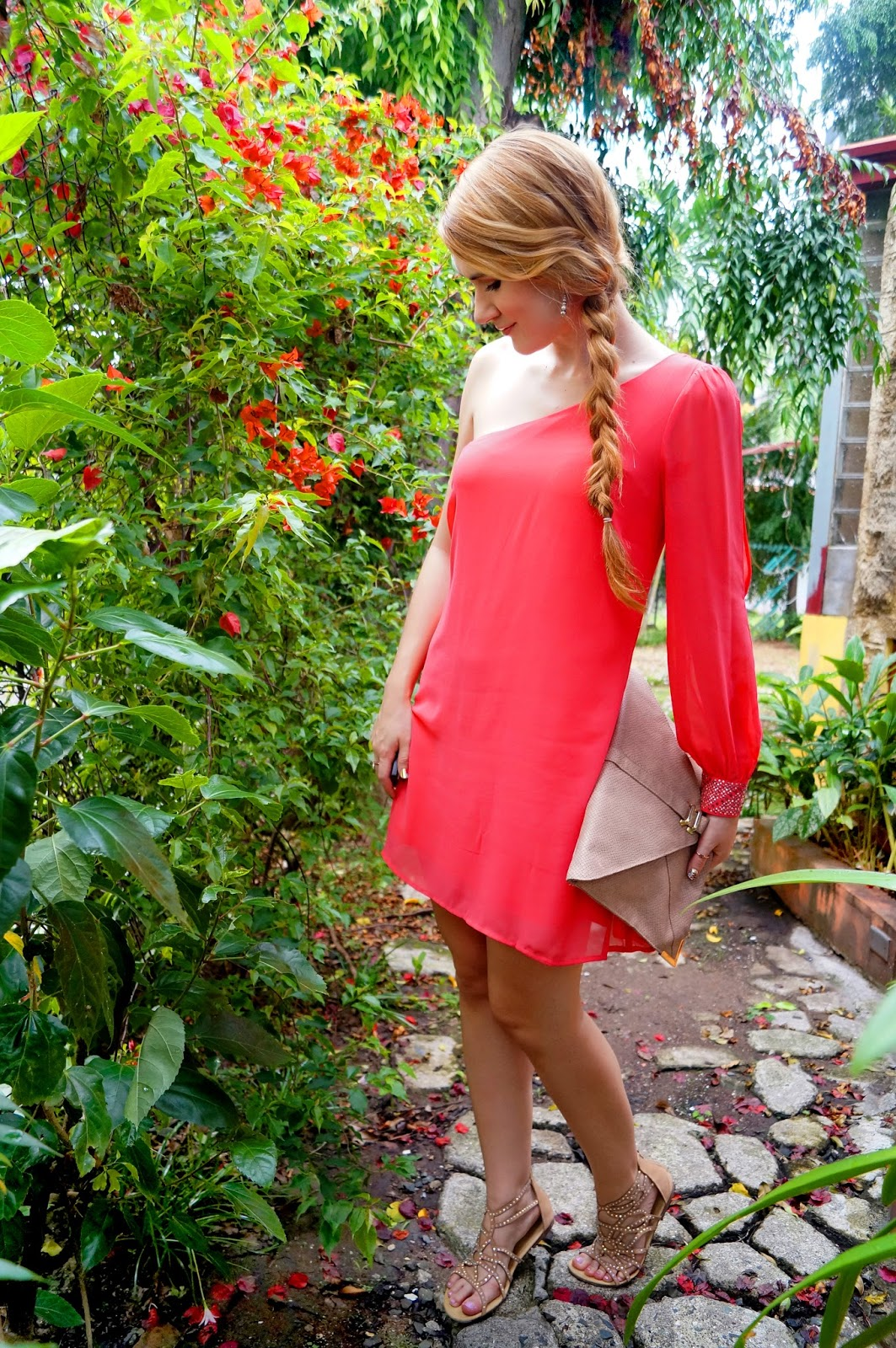 One Shoulder Dress Outfit, Summer Fashion