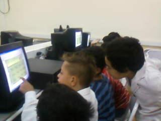 En la sala de computación