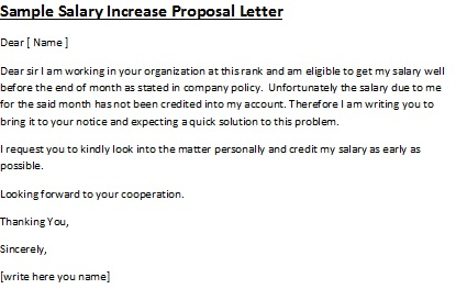 salary letter sample – Sample Salary Letter