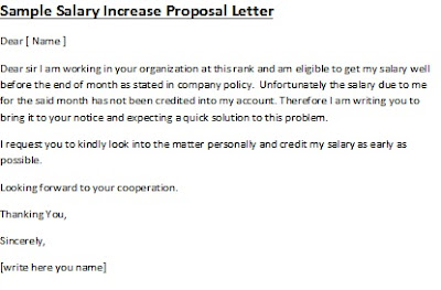 writing a salary proposal letter, writing a proposal letter sample