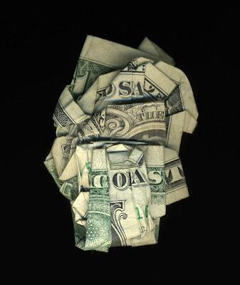 money art, folded money, save the coast