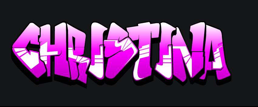 Graffitis con el nombre cristina - Imagui