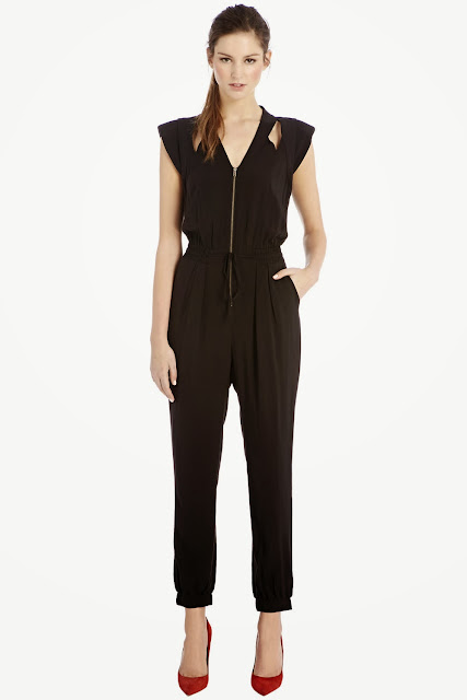 black zip jumpsuit