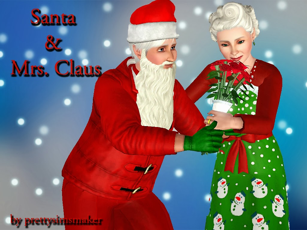 sims and just stuff santa u0026 mrs claus by prettysimsmaker