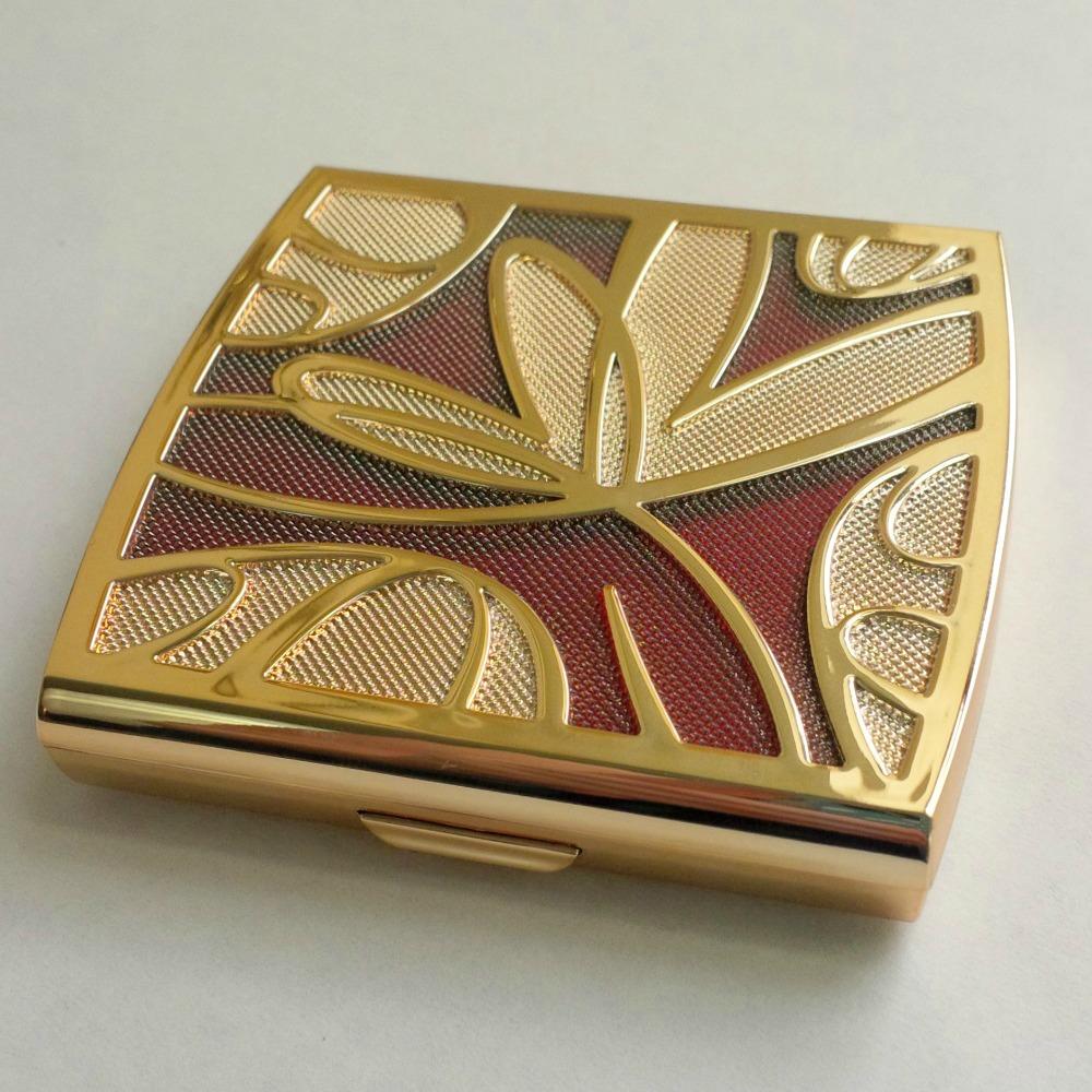 Missha Signature Velvet Art Shadow No.2 Peach Combination gold compact case USA Memebox shop