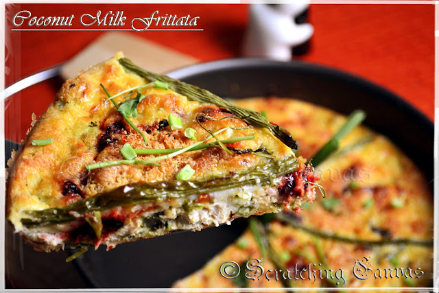 Potato Coconut milk Frittata