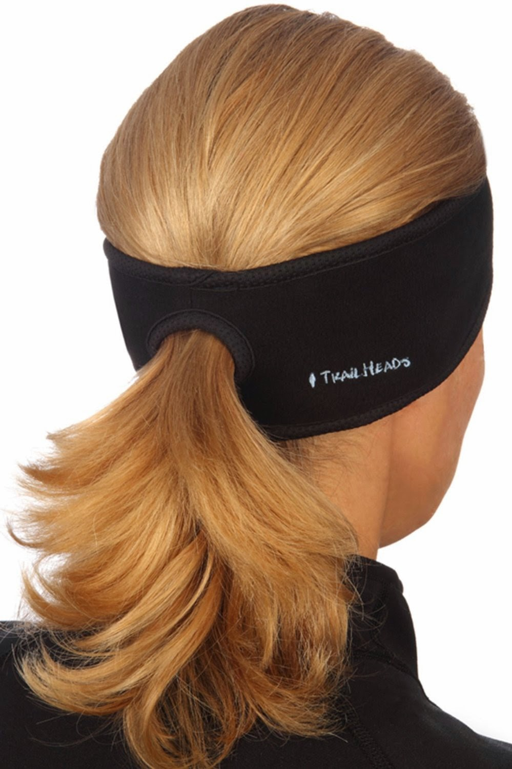 Black Ponytail Headband by trailheads