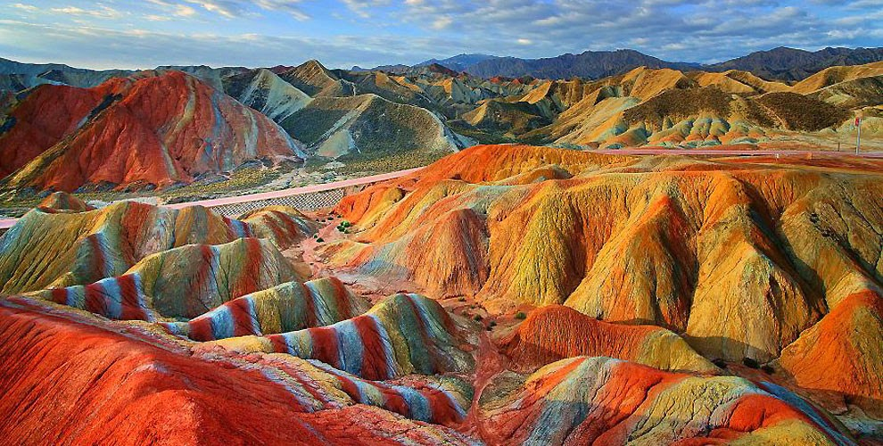 rainbow mountain in china 1