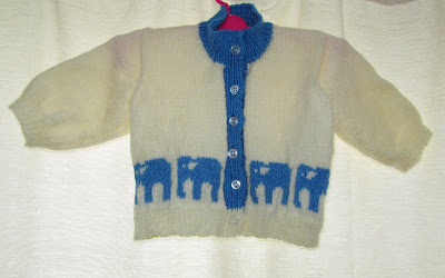 baby, cardi, cardigan, knit, knitting, pattern, elephants, boy, buttons, cute, blue