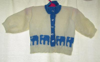baby, cardi, cardigan, knit, knitting, pattern, elephants, boy, buttons, cute, blue