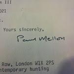 Paul Mellon Autograph