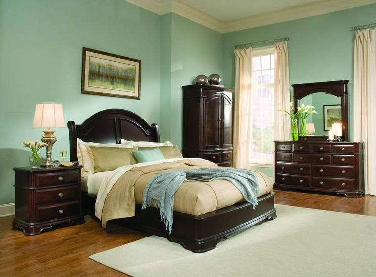 Green Bedroom Colors brown cherry wood bedroom set traditional bedroom furniture sets