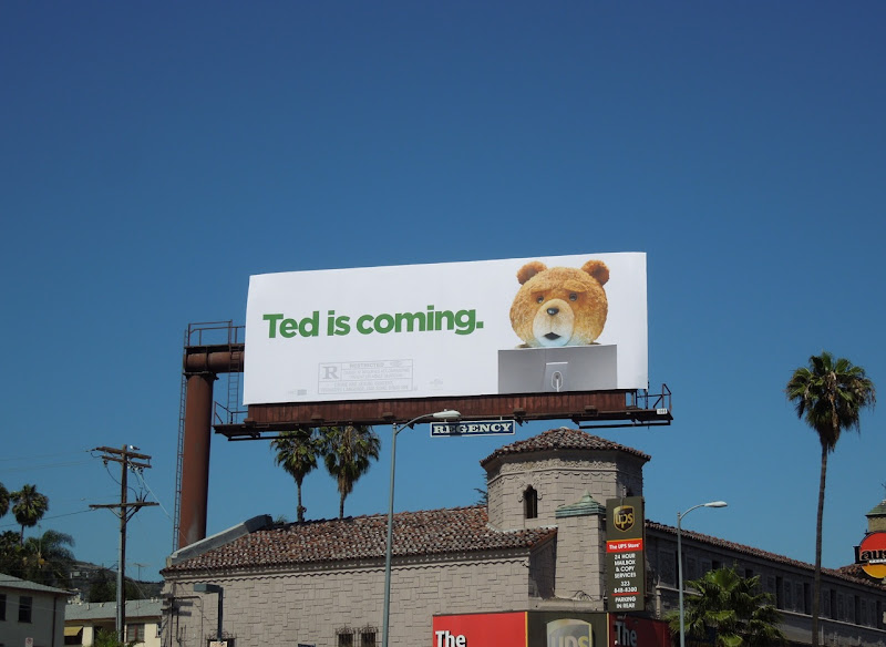 Ted is Coming movie billboard
