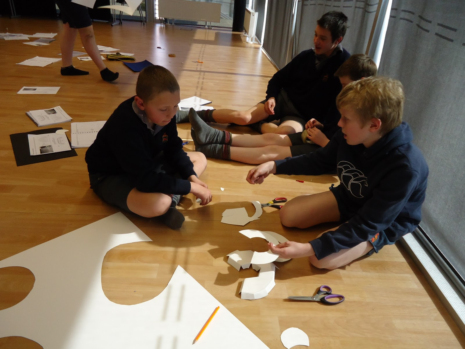 Today The Year 8 Drama Class Started Making Models Of A Greek Theatre
