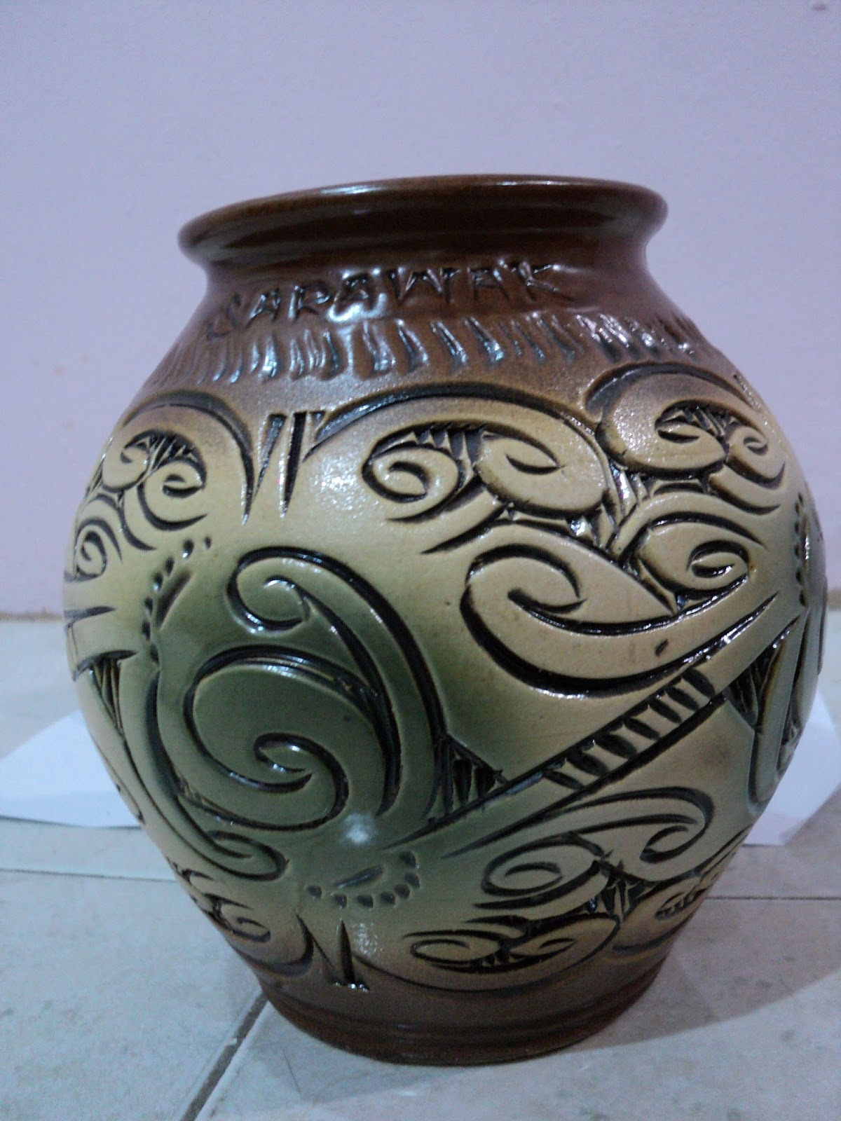 Mysimply unique sarawak vase pottery