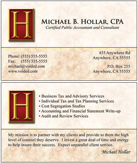 Accountant Business Cards3