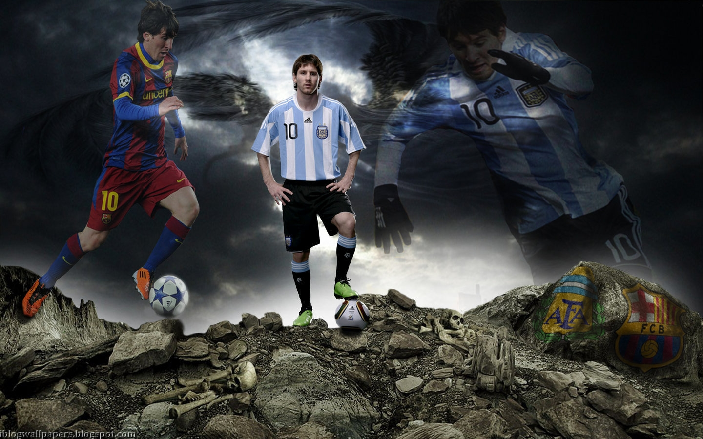 Messi argentina wallpaper 2012