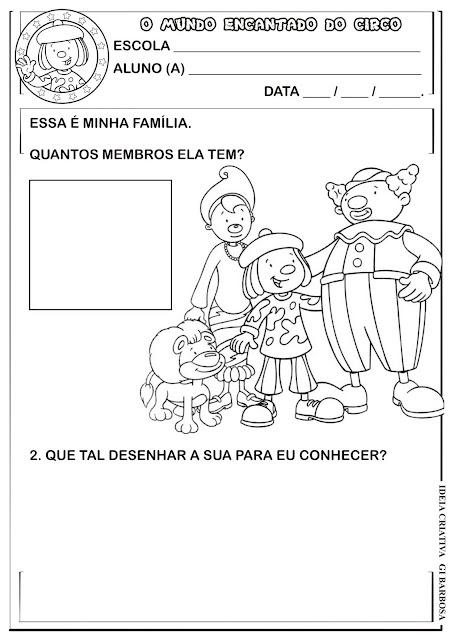Plano de Aula Atividade Projeto Circo e Família