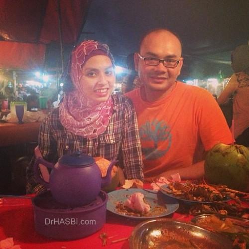 Makan seafood di Pasar Filipino Sabah