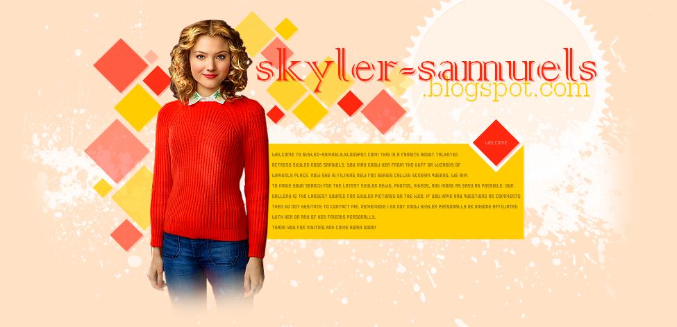 Skyler Samuels Fansite
