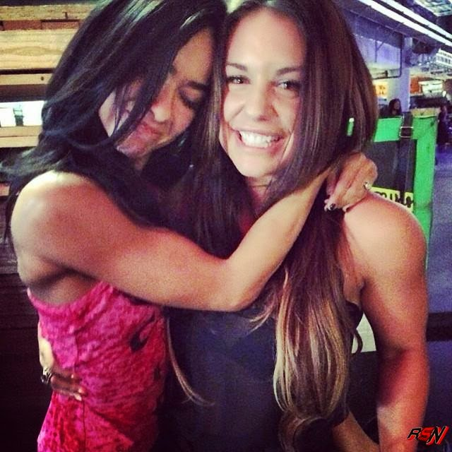 Kaitlyn Backstage with AJ Lee.