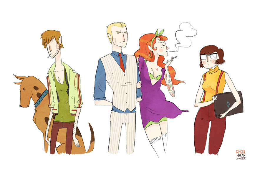 Fashion and Action: Alternate Scooby Gangs - Anime Vs Badass
