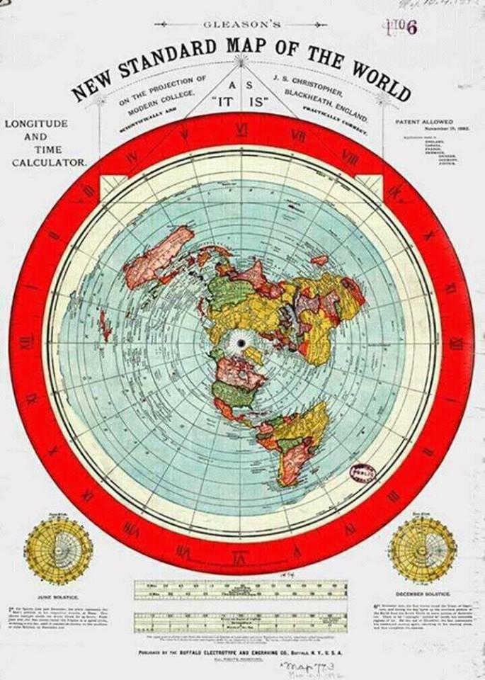 Mapa ravne zemlje
