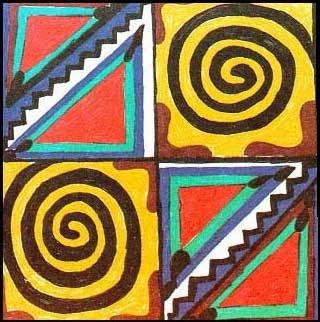 Ou vai ou racha - Pintura Indigena.