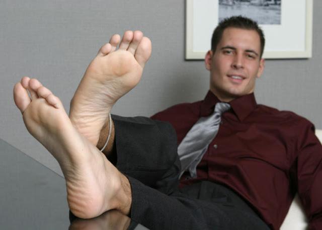 Straight Jock Feet: Ripped stud feet