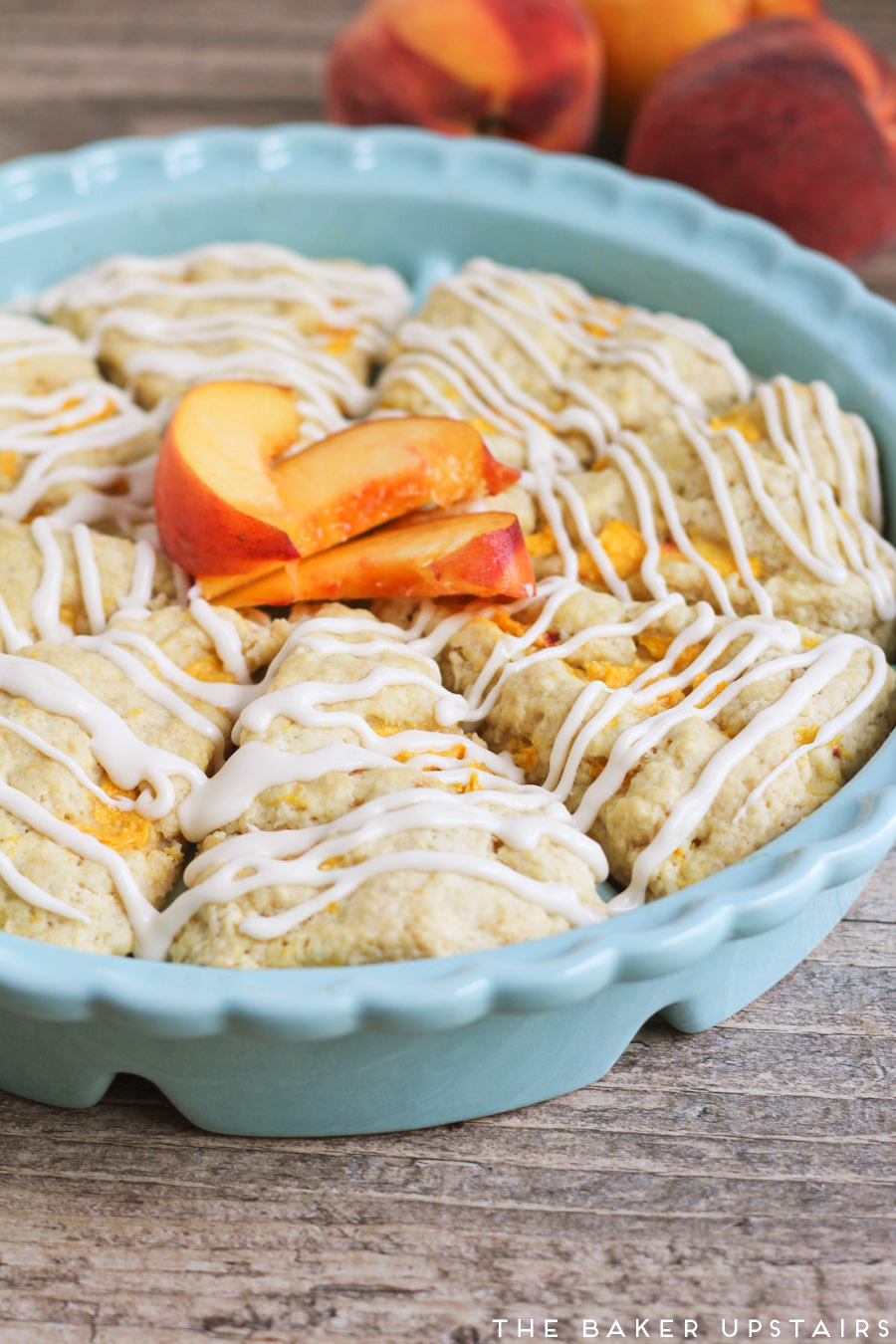 the baker upstairs: peaches and cream scones