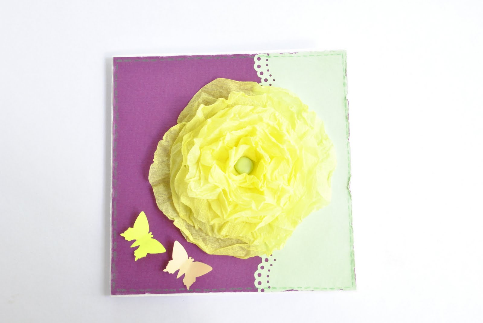 3D открытка с цветами Мастер-класс своими руками 39