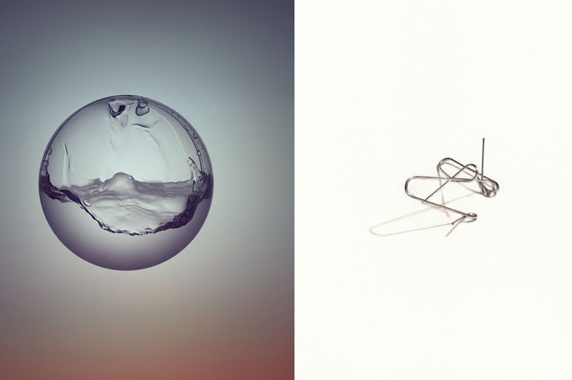 Experimental minimalist art paperclips painted water for Minimal art video