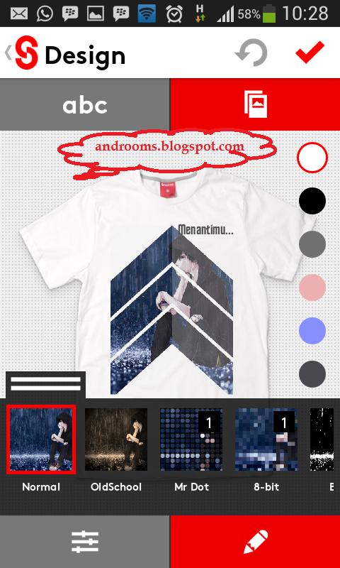 Snaptee - Aplikasi Desain Baju Android