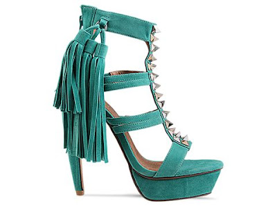 Jeffrey Campbell Strung in green suede