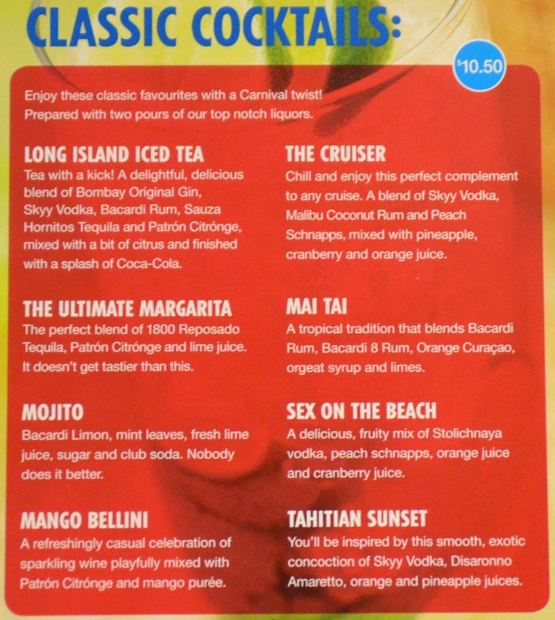 Carnival Cruise Drink Prices 2017 Australia Wallpapers  Punchaoscom
