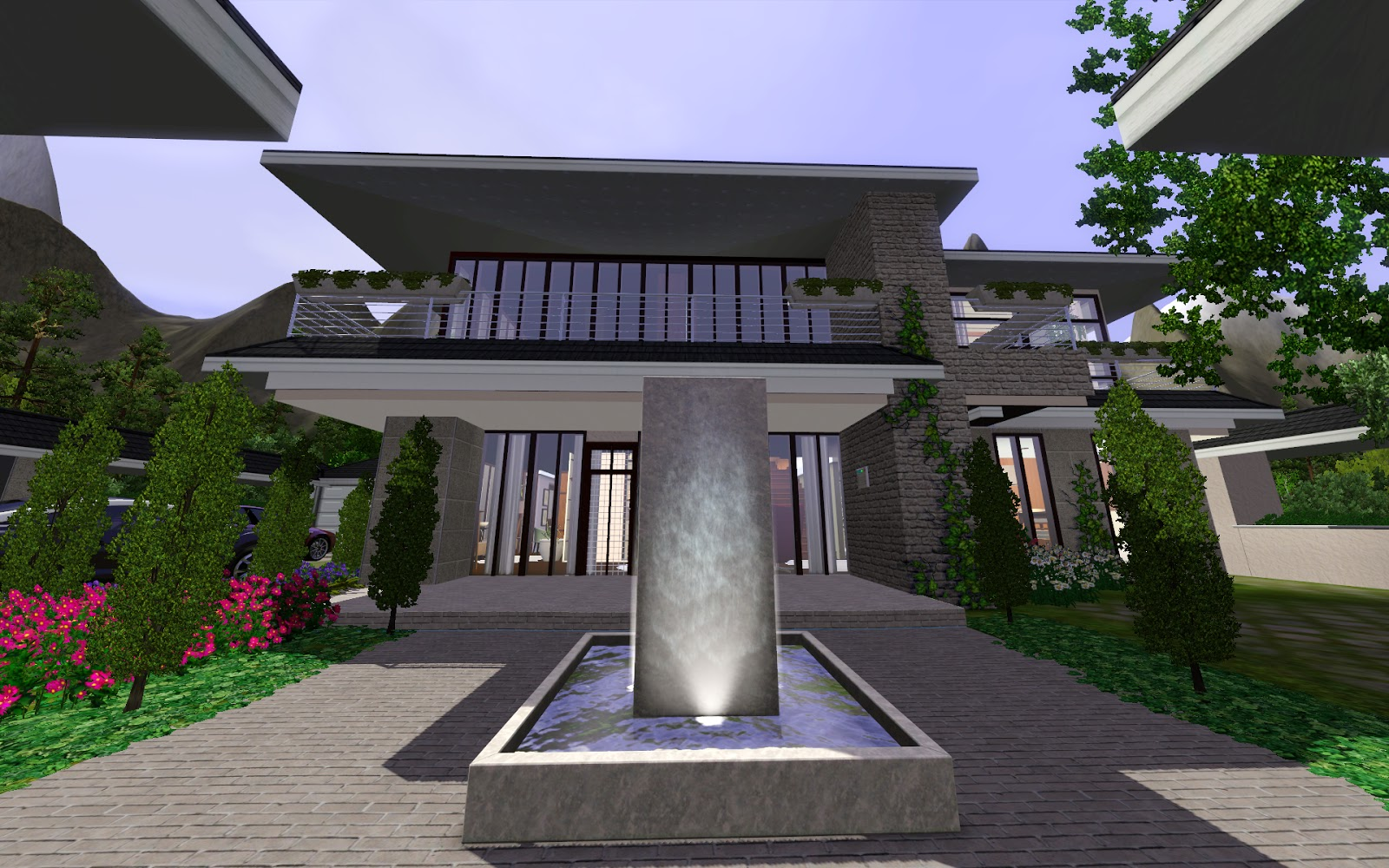 The sims modern luxury place - Maison de luxe moderne sims 3 ...