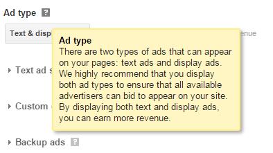 jenis iklan adsense yang beri  pendapatan tinggi