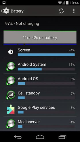 android battery time