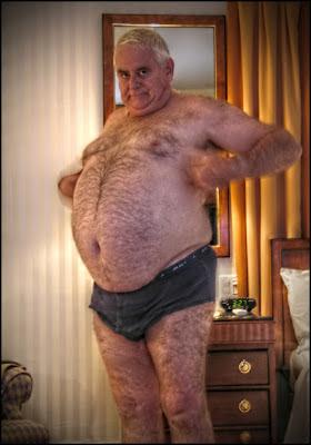 Hairy Chubby Oldermen Handsome Granpa