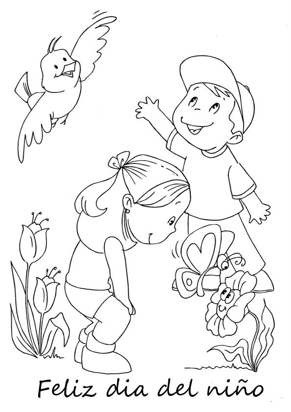 Para colorear - Dia del niño